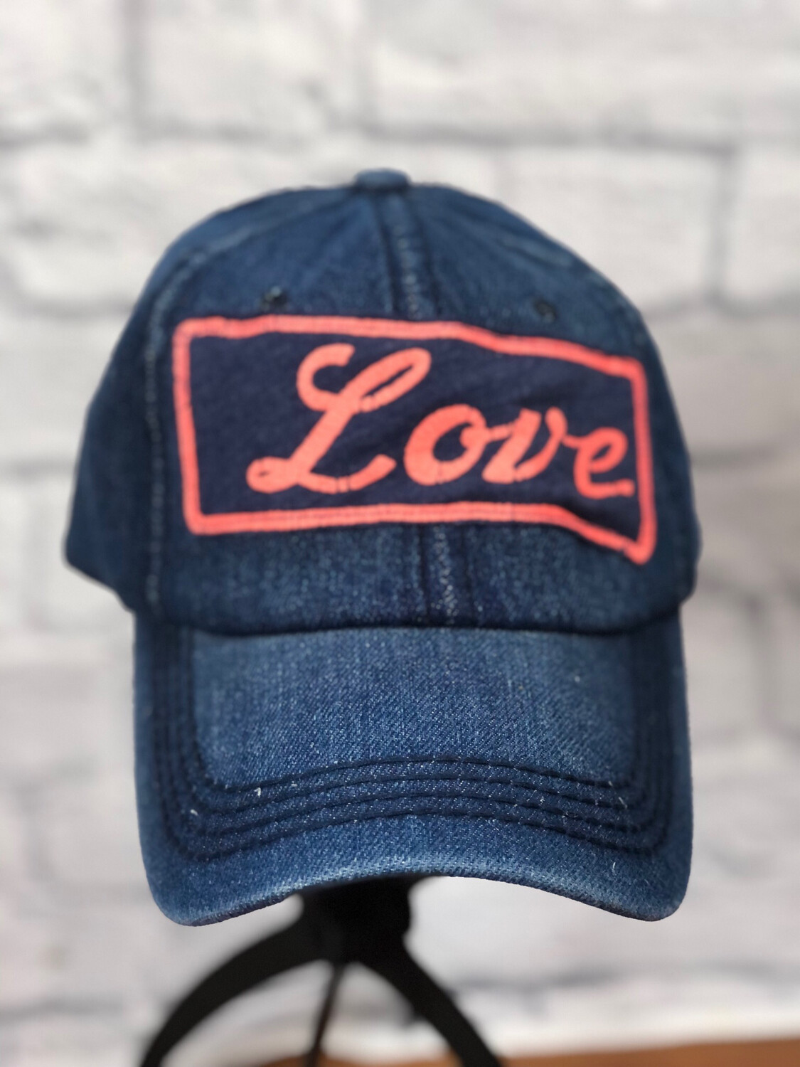 Jean Hat Upcycled Love OS