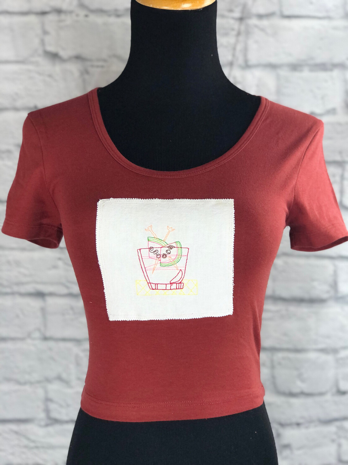 S Threads Upcycled Crop Top On The Rocks Size XS/S