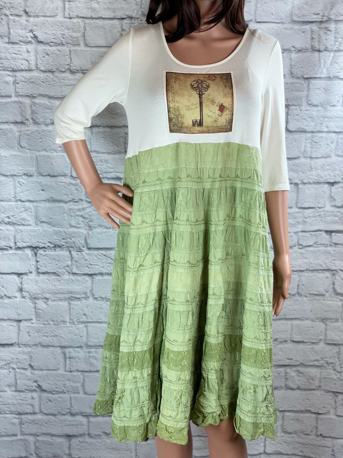 S Threads Upcycled Dress Cottage Key Layers Size M/L/XL