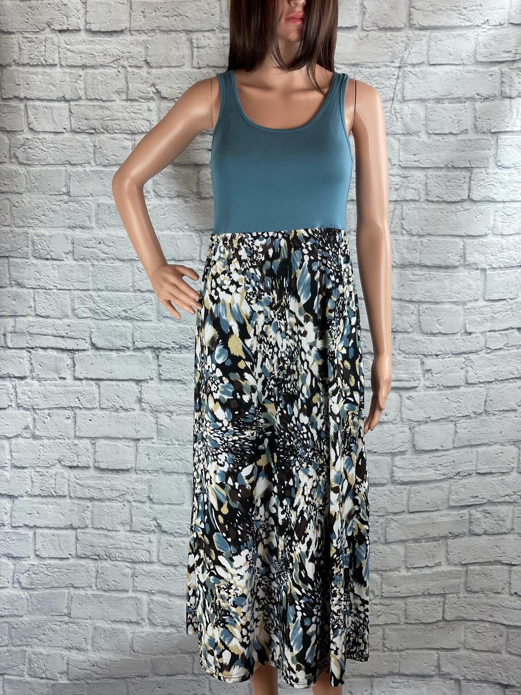 S Threads Upcycled Dress Tank Artsy Print Size S/M/L