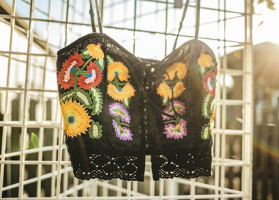 Selena Embroidered Bustier