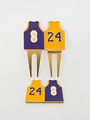 Kobe #8 & #24 Divot Tool & Ball Markers
