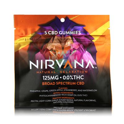 NIRVANA 125mg Broad Spectrum 5 Pack Gummies - (25mg each)