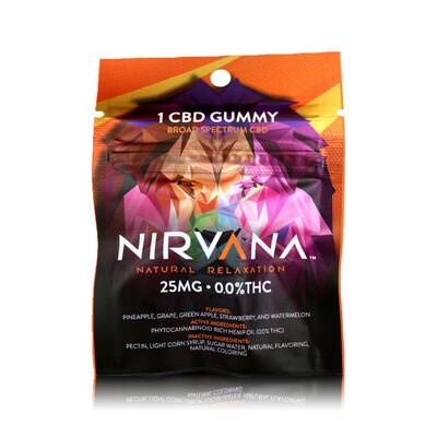 NIRVANA 25mg Broad Spectrum Single Pack Gummy