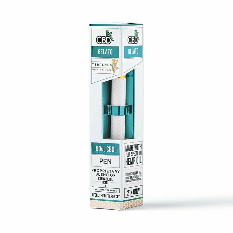 50mg Broad Spectrum Gelato Terpenes Pen