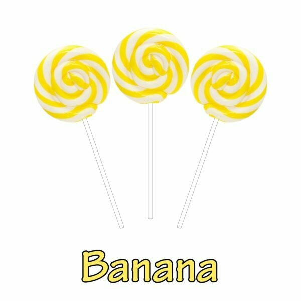 INFUSIONZ 50mg Broad Spectrum Banana Swirl Lollipop