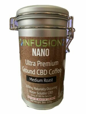 INFUSIONZ Water Saluble NANO Ultra Premium Ground Coffee (25mg each)