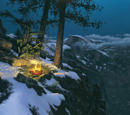Warmed by the View - Campfire