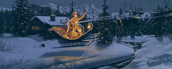 Moonlit Flight on Christmas Night