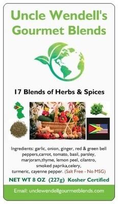 Uncle Wendell's blends 17 Herbs & Spices  All Purpose Seasoning - Salt Free, Kosher 4 oz