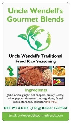 Uncle Wendell's Traditional Fried Rice Seasoning, 4.8 oz