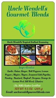 Uncle Wendell's Tropical Seafood Seasoning 4 oz