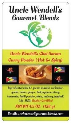 Uncle Wendell's Chai Garam Curry Powder HOT & SPICY 9.5 oz