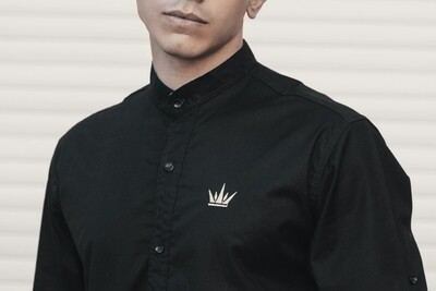 MEKA Dress shirt  half neck - Black