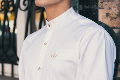 MEKA - Dress shirt - half neck - white