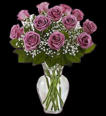Purple Lavenders Roses