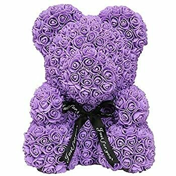 Purple Rose Bear