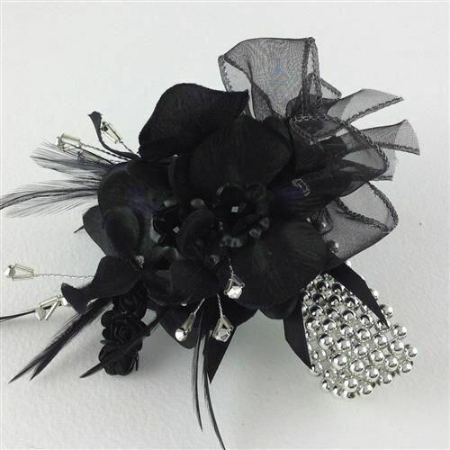 Black Rose Wristlet