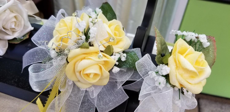 Yellow Rose Wristlet & Boutonniere