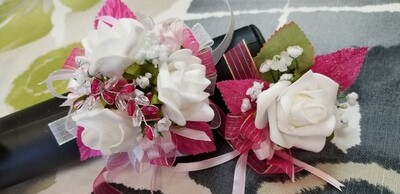 White Rose Wristlet & Boutonniere