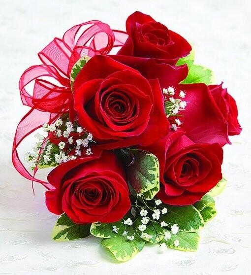 Red Rose Wristlet