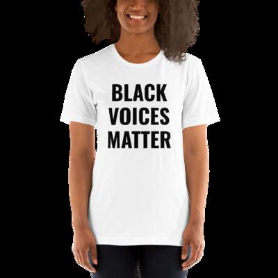 BLACK VOICES MATTER Unisex T-Shirt (White)
