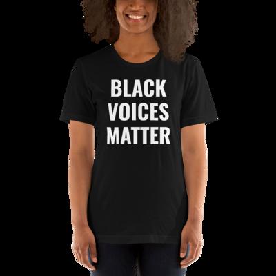 BLACK VOICE MATTER Unisex T-Shirt (Black)