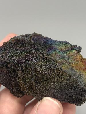 Quartz With Iridescent Hematite