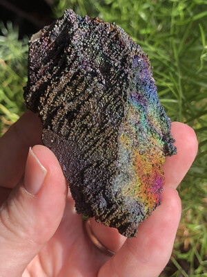 Color Change Iridescent Hematite On Quartz