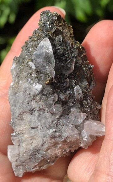 Marcasite With Calcite