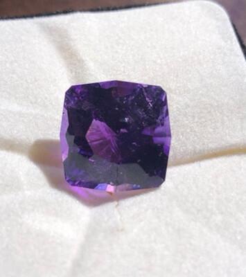 Deep Purple JXR Cushion Cut Amethyst