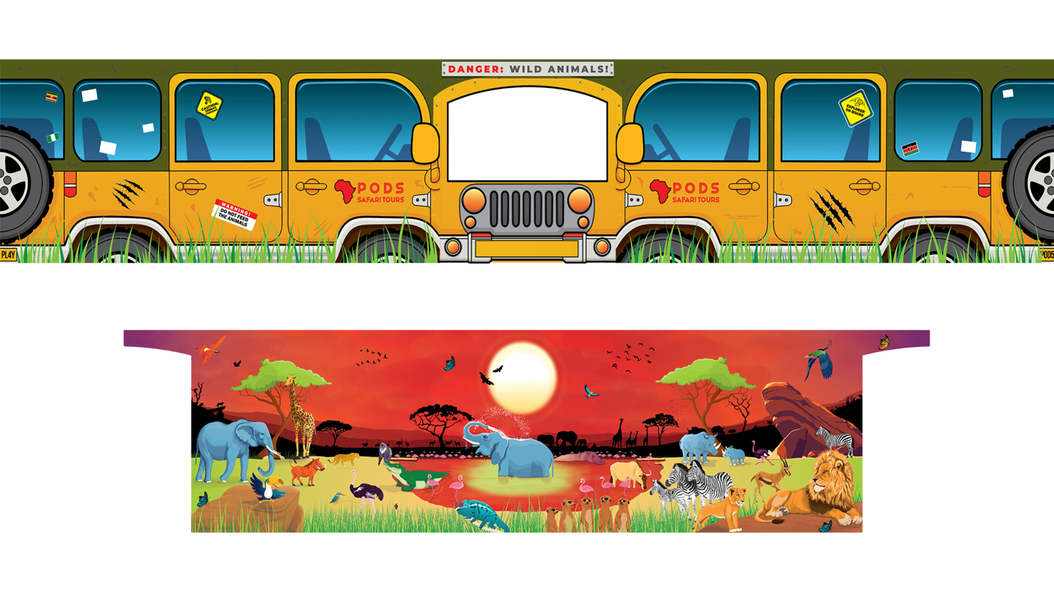 PRE ORDER - Removable Themes - Sunset Savanna Safari