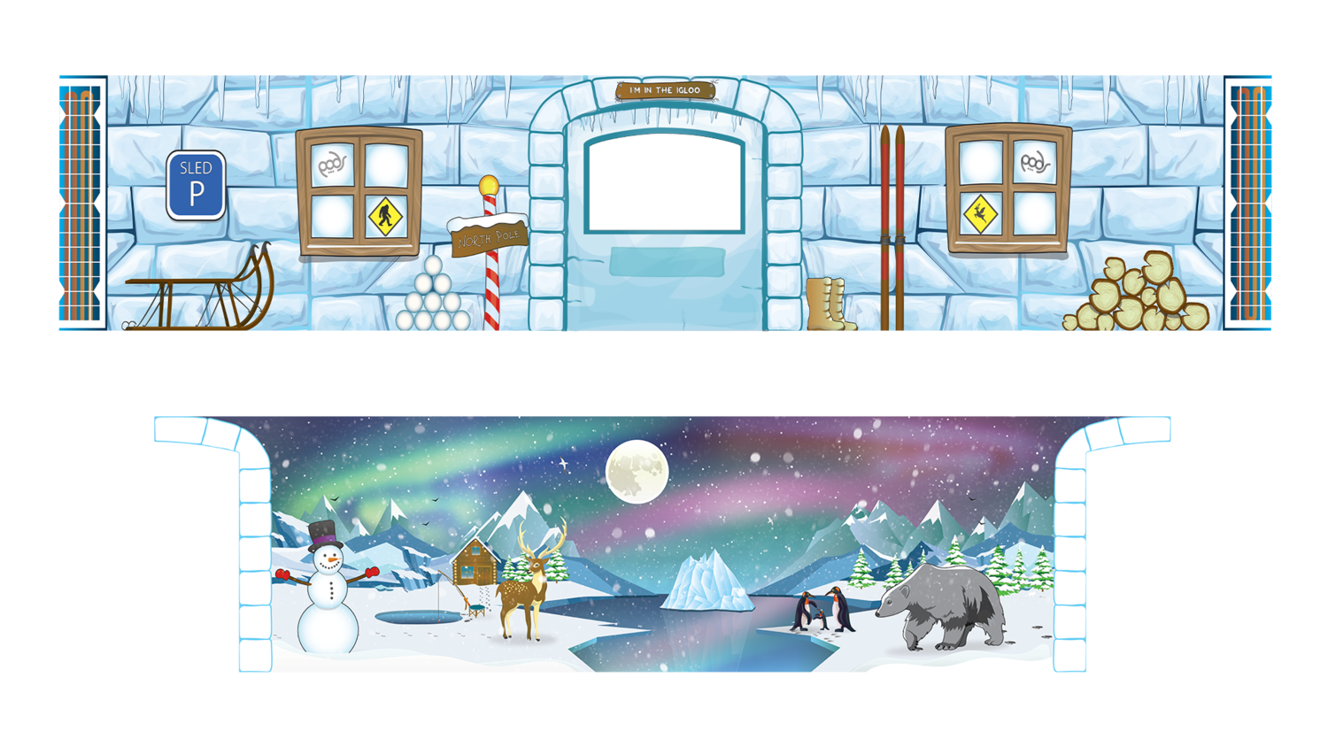 Removable Themes - Polar Ice Igloo