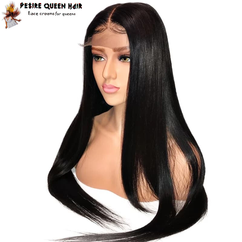 Invisible Fake Scalp 13x6 Lace Straight Wig