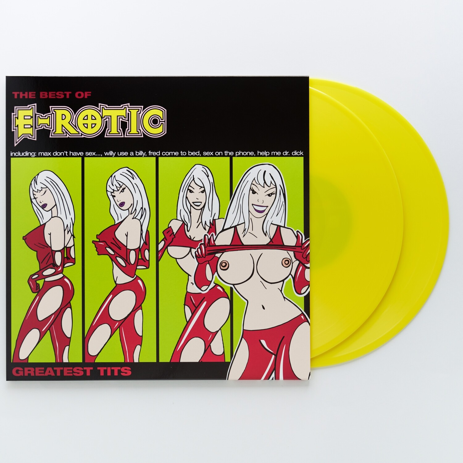 LP: E-Rotic — «Greatest Tits — The Best Of E-Rotic 1994–2003» (2019) [2LP Yellow Vinyl]