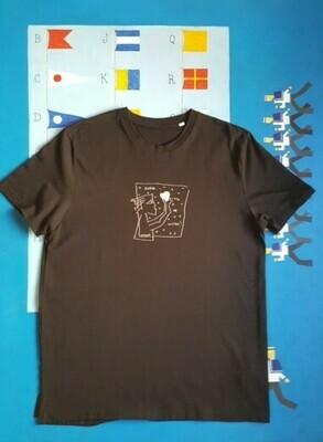 T-shirt: «Любовь — это не шутка» (handmade, black)