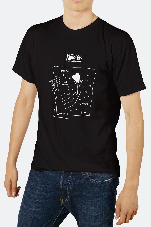 T-shirt: «Любовь - это не шутка» (black)