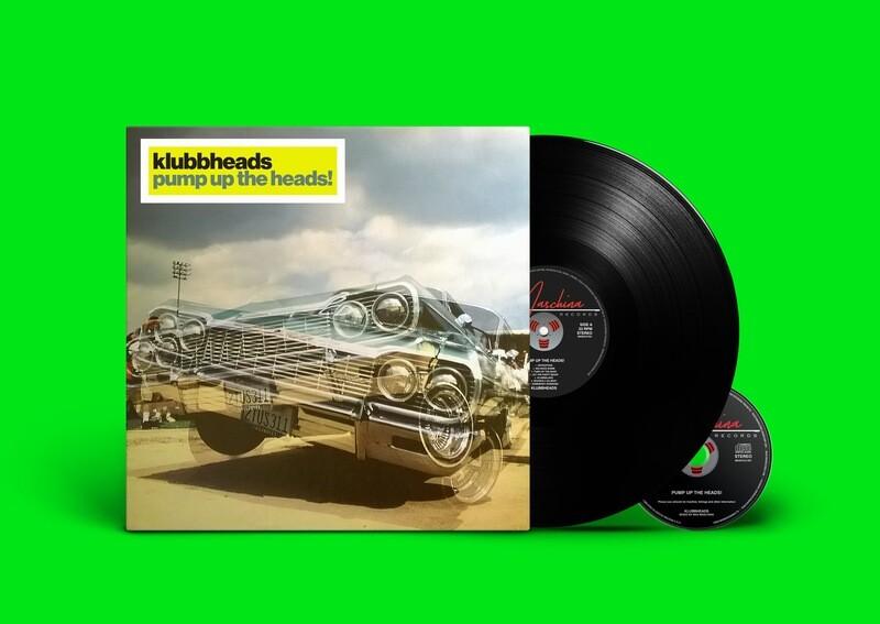 LP+CD: Klubbheads — «Pump Up The Heads» (2020) [Black Vinyl]