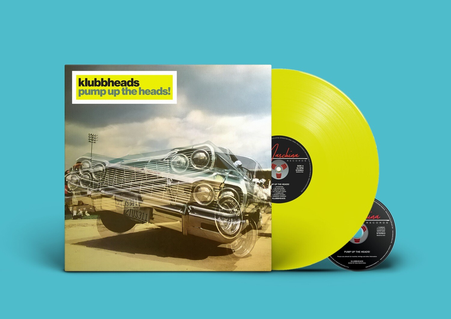 [PREORDER] LP+CD: Klubbheads — «Pump Up The Heads» (2020) [Limited Acid Yellow Vinyl]