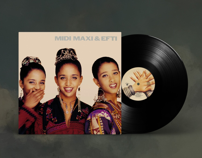 LP: Midi, Maxi and Efti — «Midi, Maxi and Efti» (1991/2021) [Black Vinyl]