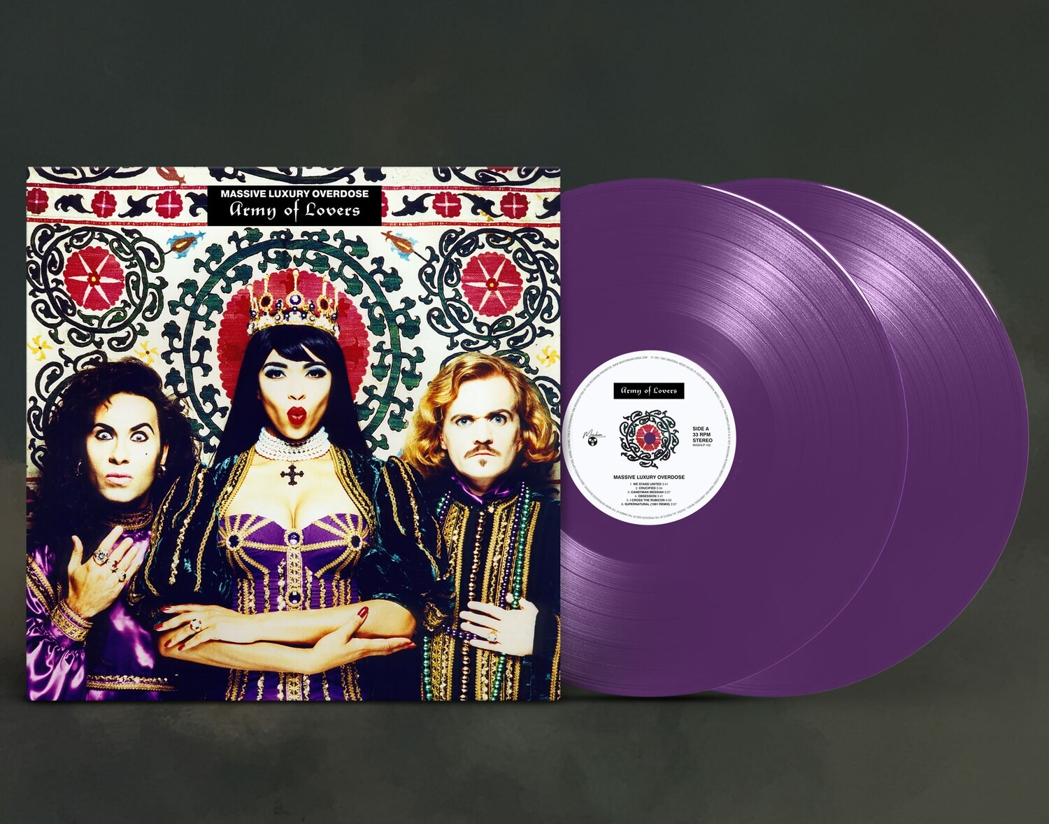 LP: Army Of Lovers — «Massive Luxury Overdose» (1991/1992) [Ultimate Edition Limited Purple 2LP]