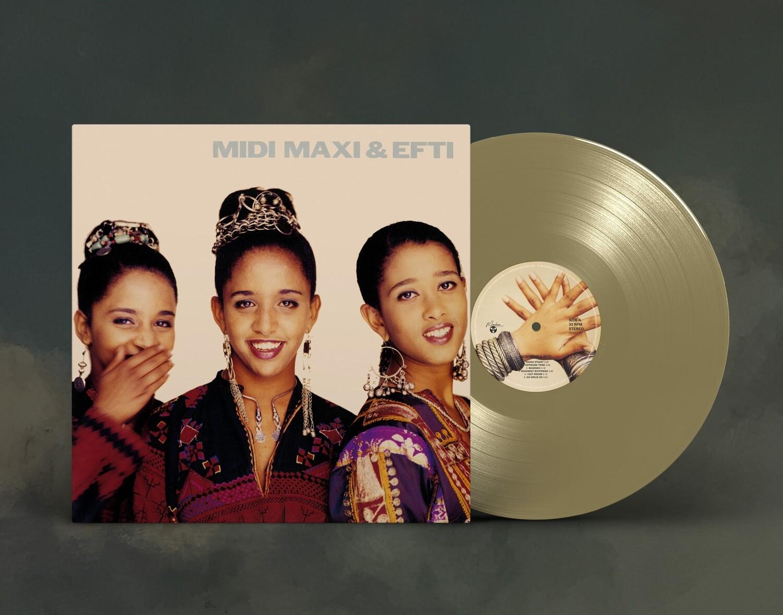 LP: Midi, Maxi and Efti — «Midi, Maxi and Efti» (1991/2021) [Limited Gold Vinyl]