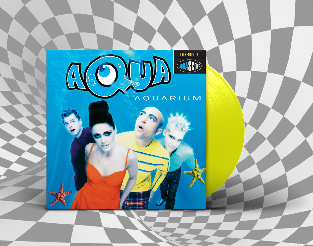 [PREORDER] LP: Aqua — «Aquarium» (1997/2021)  [Naughty Yellow Vinyl]