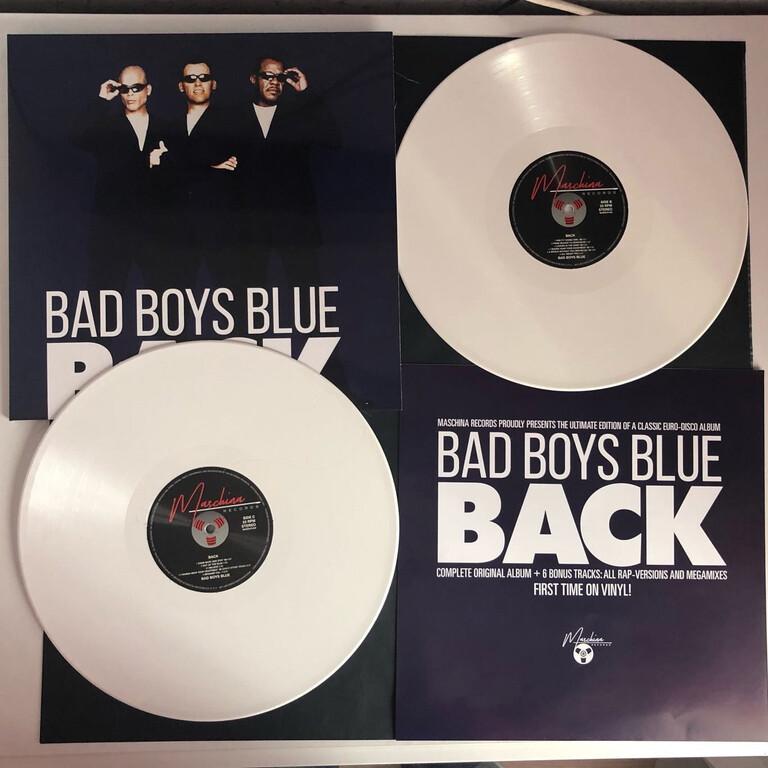 LP: Bad Boys Blue — «Back» (1998/2021) [2LP Limited White Vinyl]