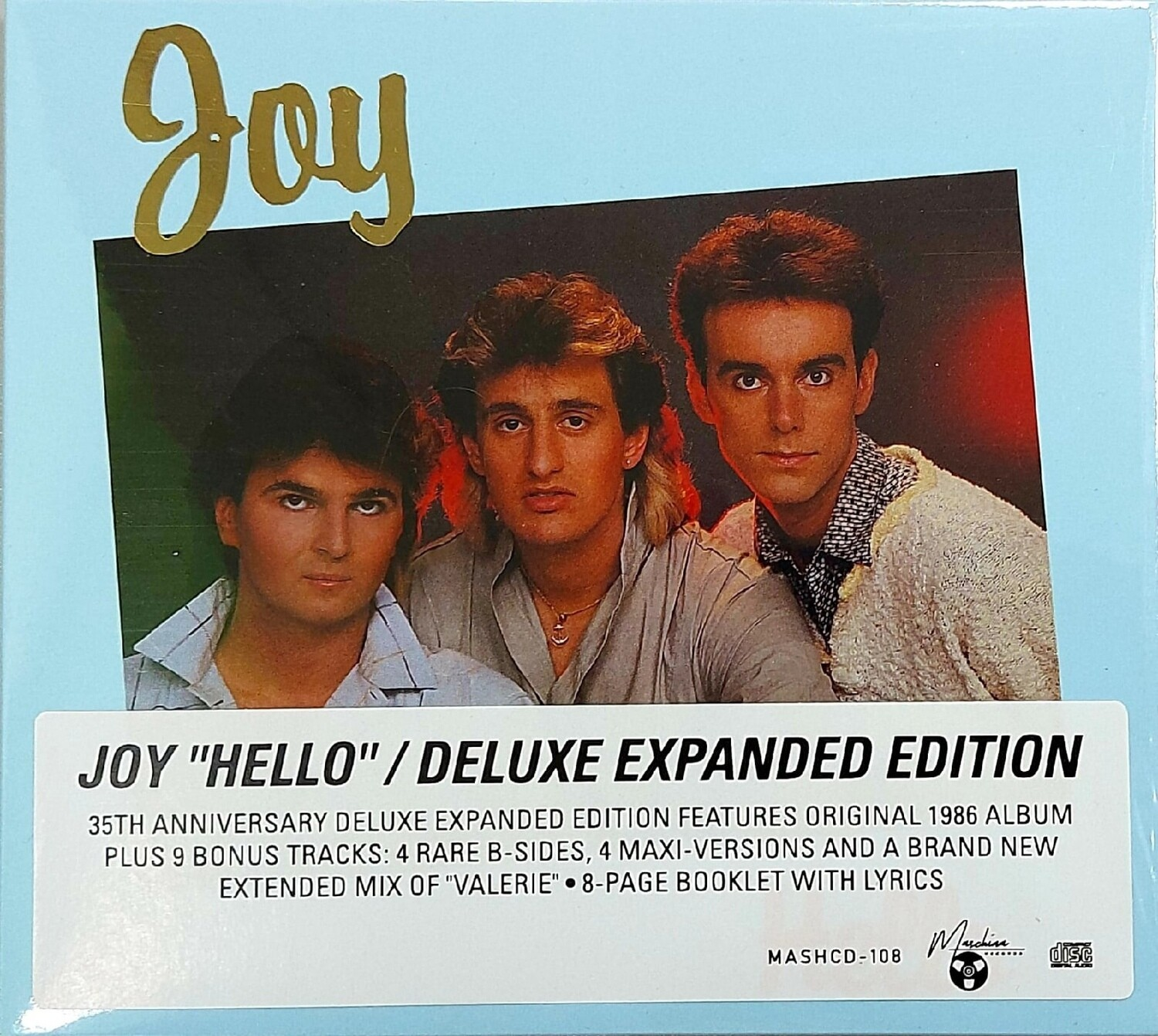 CD: Joy — «Hello» (1986/2021) [Deluxe Expanded Edition]