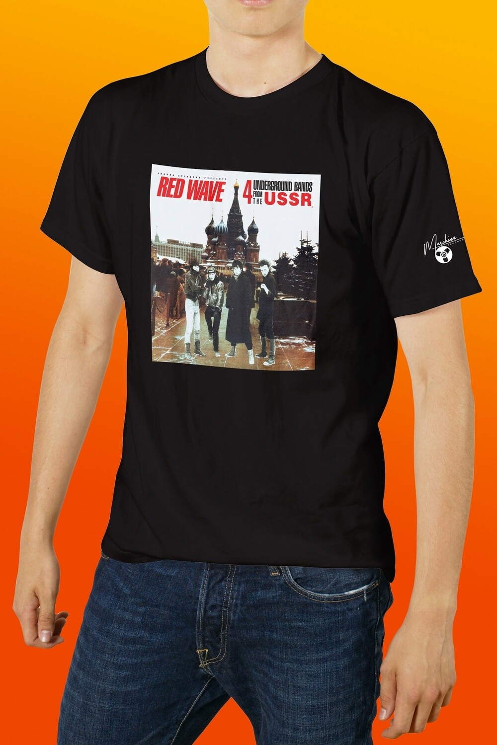 [PREORDER] T-shirt: «Red Wave» (black)