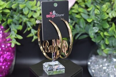 """""""Baby"""" Hoops - Gold"""