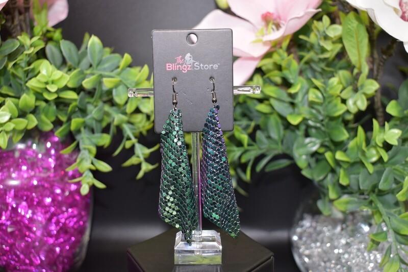 Sequin Mesh Earrings - Multi