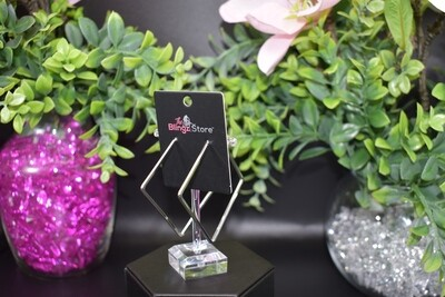 Square Hoops - Silver
