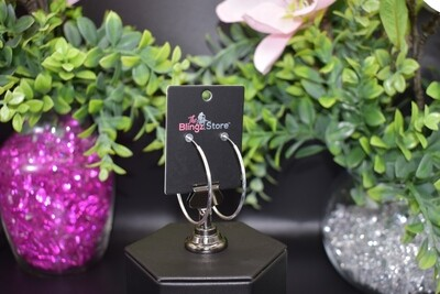 Clip-on Hoops - Silver